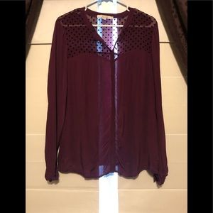 Lovely Boden Purple Top